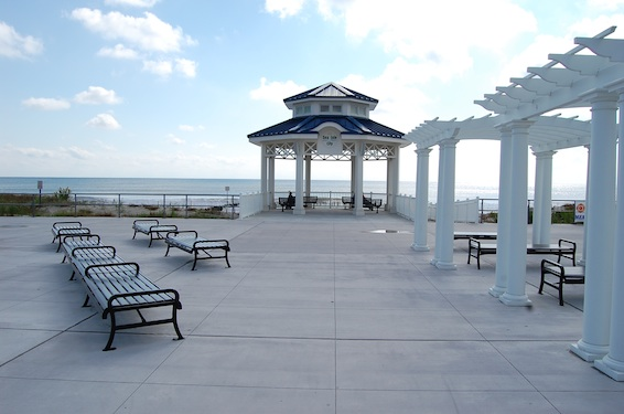 new pavillion on the Sea Isle City, NJ Promenade