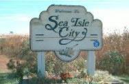 Welcome To Sea Isle City sign